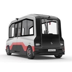 3D model selfdriving shuttle bus