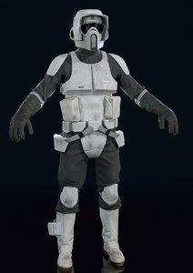 3D scout trooper model