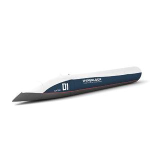 hyperloop hyper loop 3D model