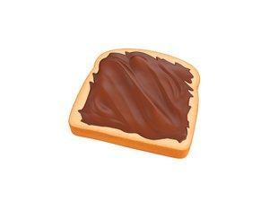 nutella toast 3D