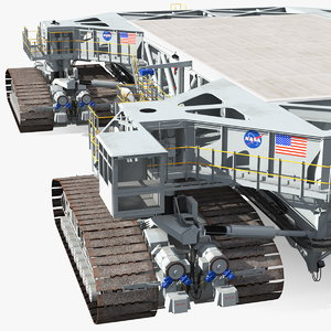nasa missile crawler transporter 3D model