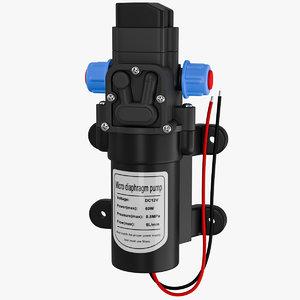 mini water pump 3D model