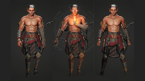 warrior hero character southeast 3D