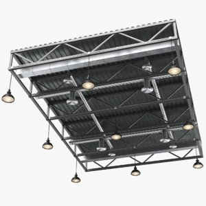 3D real ventilation ceiling model