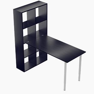 3D ikea kallax table model