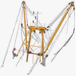3D trawler mast trawls model