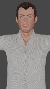 3D man ross low-poly