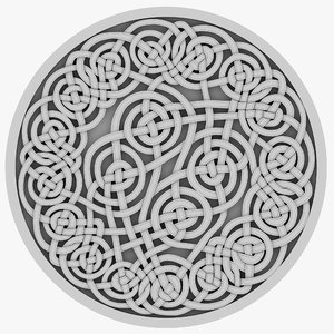 3D celt celtic ornament model