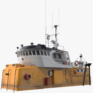 fishing boat cabin 3D model