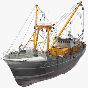 fishing trawler trawls 3D model