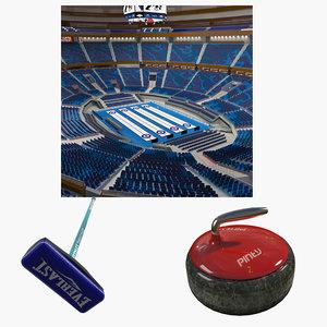 3D broom arena