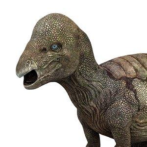 3D model pachycephalosaurus dinosaur