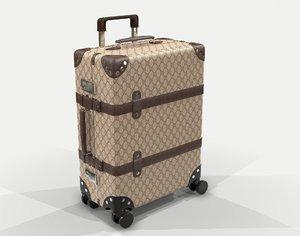 globe-trotter gg canvas suitcase 3D model