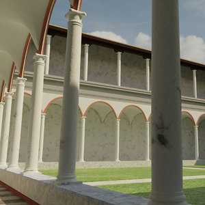 3D monastery abbey architecture