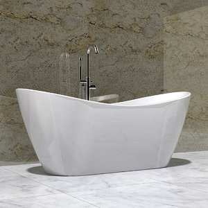 bathtub design modern 3D model