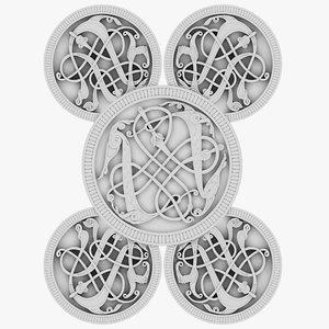 celt celtic ornament 3D model