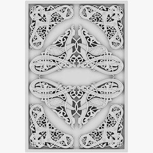 celt celtic ornament 3D