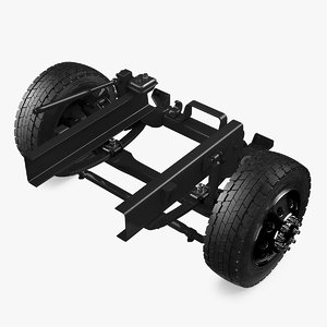 heavy duty truck chassis 3D model
