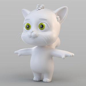 3D biped cat model
