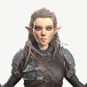 elf archer 3D