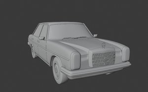3D retro mercedes benz w115