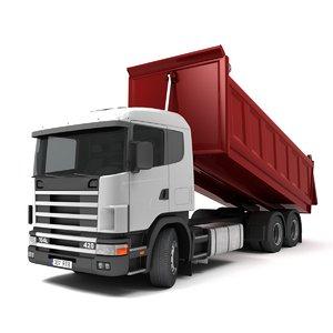 3D dump truck v-ray model