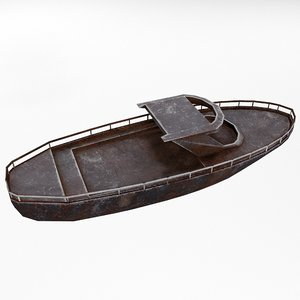 3D rusty ship metal rust model