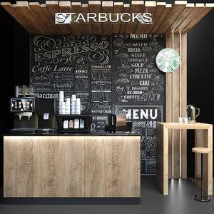 3D cafes restaurants model