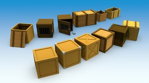 3D model boxes contains