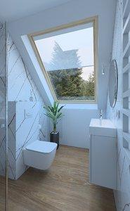 3D bathroom interior model