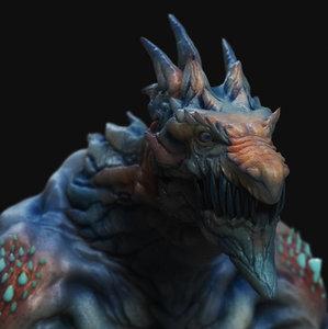 3D dragon winter
