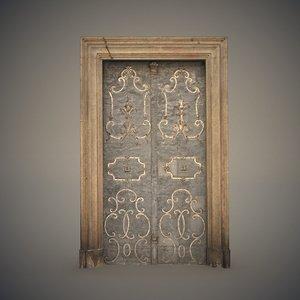 ornate metal door 3D model