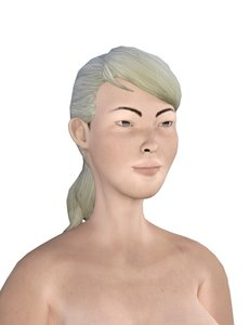 3D model woman people character