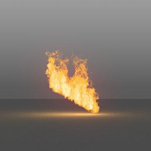 burning flames 07 vdb model