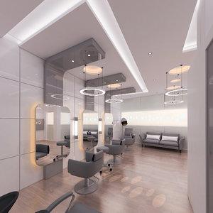 3D model design beauty salon