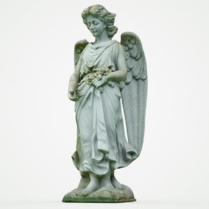 angel statue 3D