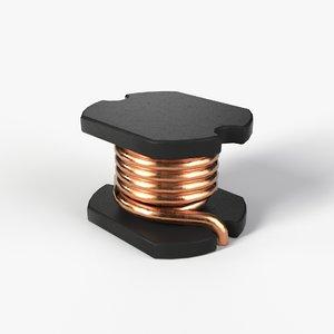 3D model inductor 2k pbr