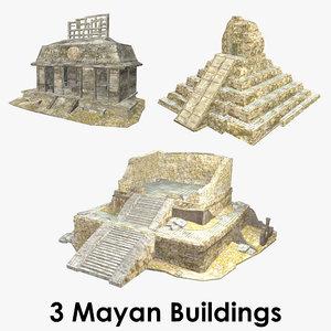 3D mayan buildings -