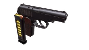 3D model makarov pistol pm