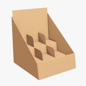 3D display cardboard stand