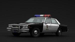 chevrolet impala police 3D