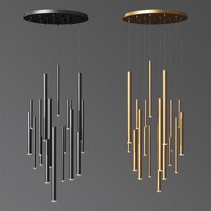3D model eurofase santana led chandelier
