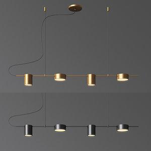 counterpoint linear led pendant light 3D model