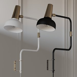 3D sconce bankeryd wall