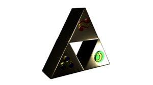 triforce zelda 3D model