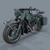 German motorcycle WW2