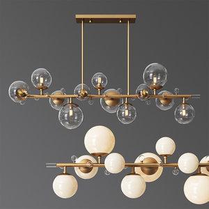 3D troon chandelier model