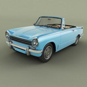 1967 triumph herald convertible 3D