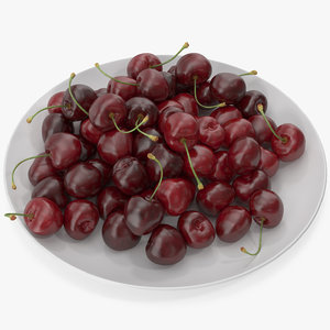 cherries plate 3D