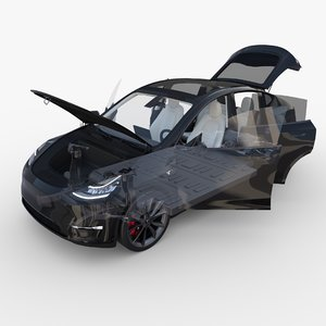 3D tesla y awd chassis